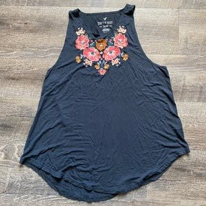 AE tank with floral detailing